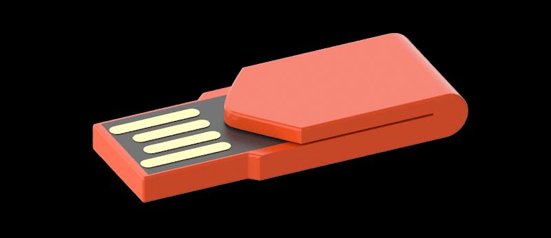 Pendrives personalizados clip Impresión digital