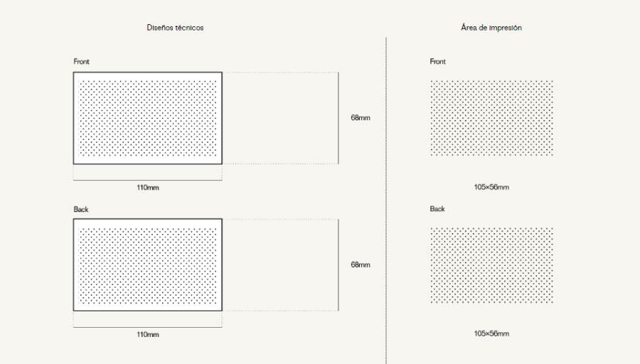 Plantilla de impresión para el pendrive personalizado Sharp