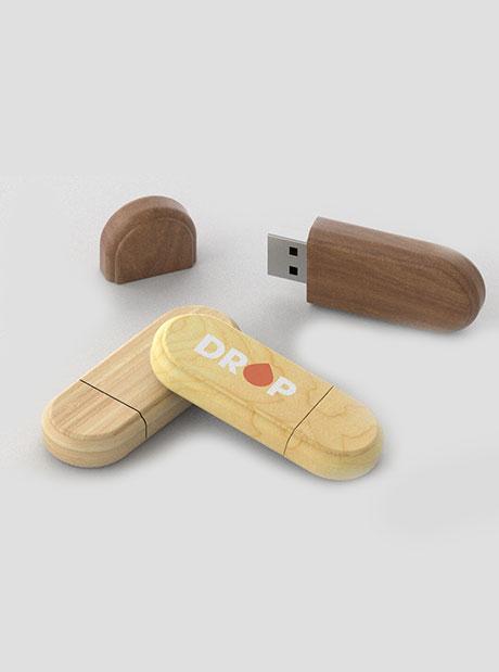 Pendrive Personalizado Bambú
