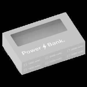 envase incluido con cualquier power bank publicitario