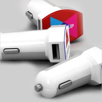 Cargador Coche USB Personalizado Curve