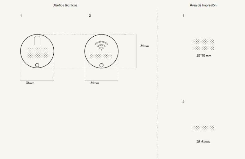 Plantilla Impresión localizador redondo Bluetooth-Round