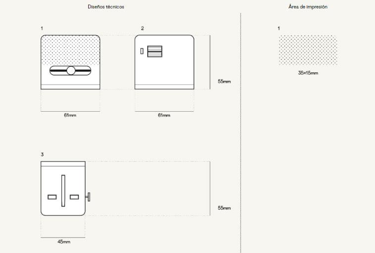 Plantilla Impresión Adaptador Enchufe Personalizado Trotter