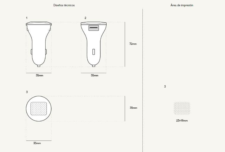 Plantilla Impresión cargador de coche label personalizado