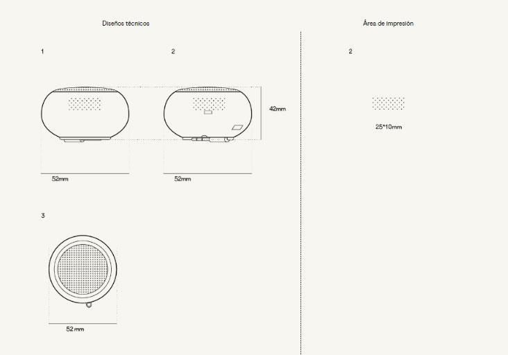 Plantilla Impresión Altavoz Esfera