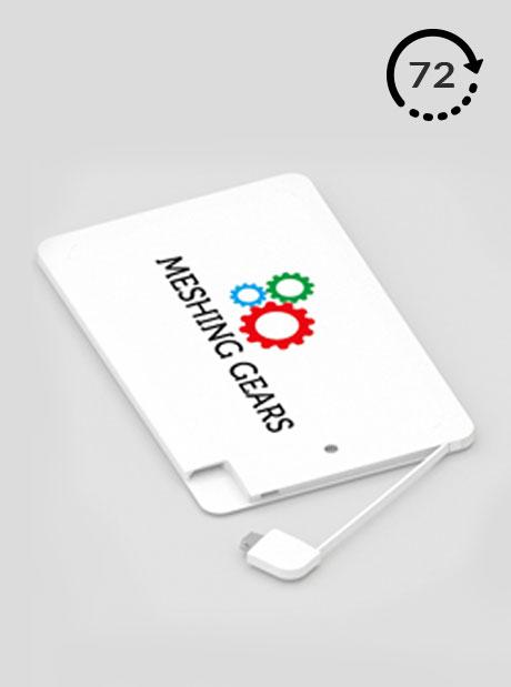 Power Bank Personalizado Ticket 72h Cargadores impresos Publicitarios