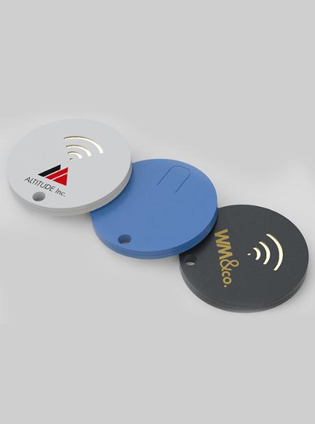 Localizador Personalizado Tracker Bluetooth Round Publicitarios