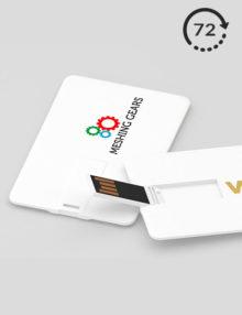 Pendrive Personalizado Slim Card 24h USB impresos promocionales