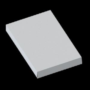 Caja de cartulina con soporte interno para producto y accesorios.