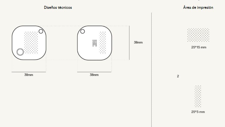 plantillas impresion localizador personalizado tracker square Publicitarios