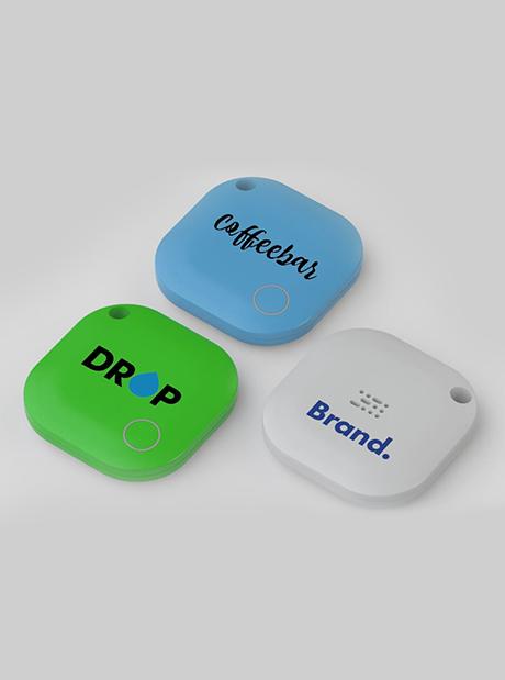 Localizador Personalizado Tracker Bluetooth Square Publicitarios